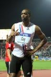 100m 2009年竞技最终快乐精神tyson世界 库存图片