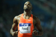 100m 2009年asafa竞技最终精神powell世界 库存图片