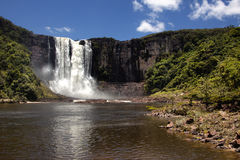 The 100m high Aponwao falls Stock Image