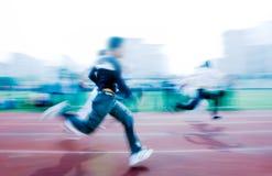 100M running race stock photography