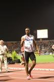 100m värld för tyson för 2009 mens för friidrott sista glad Royaltyfri Foto