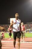 100m värld för tyson för 2009 mens för friidrott sista glad Arkivfoto