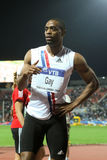 100m värld för tyson för 2009 mens för friidrott sista glad Arkivbilder