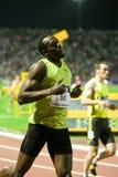 100m värld för usain för 2009 mens för friidrottbult sista Royaltyfri Foto