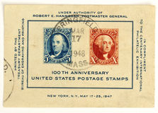100os sellos del aniversario de Estados Unidos Imagen de archivo