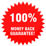 100pct moneyback. 100 Percent money back guarantee Royalty Free Illustration