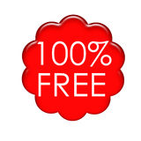 100Persent Free Label stock image