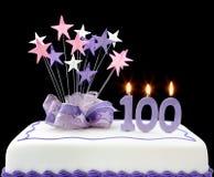 100th Kuchen Lizenzfreie Stockbilder
