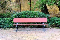 101木的长凳 免版税库存照片