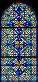 101 окно запятнанное стеклом Стоковая Фотография