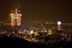 101 2009 fajerwerków Taipei Zdjęcie Stock