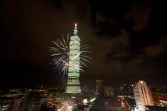 101 2011 πυροτεχνήματα Ταιπέι Στοκ Εικόνες