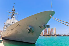 101 alvaro bazan de f大型驱逐舰 免版税库存照片
