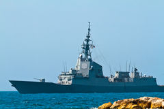 101 alvaro bazan de f大型驱逐舰 库存照片
