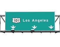 101 autostrada senza pedaggio Los Angeles Fotografie Stock Libere da Diritti