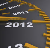 1012 happy new year  time speed Stock Images