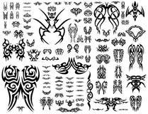 101个收集符号tatoo向量 免版税库存图片