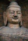 102个雕刻的洞穴石yungang 库存图片