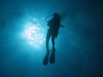 102潜水员 免版税库存图片