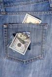 新的美国一百元钞票放入循环在10月20日 库存图片