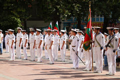 102nd anniversary of Bulgaria's independence. VARNA, BULGARIA - SEPTEMBER 22: Officials, NAVY personal and citizens are celebrating the 102nd anniversary of Stock Photo