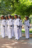 102nd anniversary of Bulgaria's independence. VARNA, BULGARIA - SEPTEMBER 22: Officials, NAVY personal and citizens are celebrating the 102nd anniversary of Royalty Free Stock Photos