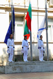 102nd anniversary of Bulgaria's independence. VARNA, BULGARIA - SEPTEMBER 22: Officials, NAVY personal and citizens are celebrating the 102nd anniversary of Stock Images