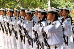 102nd anniversary of Bulgaria's independence. VARNA, BULGARIA - SEPTEMBER 22: Officials, NAVY personal and citizens are celebrating the 102nd anniversary of Royalty Free Stock Photo
