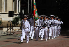 102nd anniversary of Bulgaria's independence. VARNA, BULGARIA - SEPTEMBER 22: Officials, NAVY personal and citizens are celebrating the 102nd anniversary of Stock Image