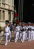 102nd anniversary of Bulgaria's independence. VARNA, BULGARIA - SEPTEMBER 22: Officials, NAVY personal and citizens are celebrating the 102nd anniversary of Stock Photos
