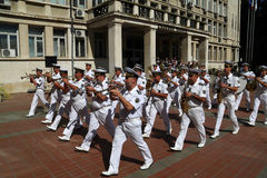 102nd anniversary of Bulgaria's independence. VARNA, BULGARIA - SEPTEMBER 22: Officials, NAVY personal and citizens are celebrating the 102nd anniversary of Royalty Free Stock Images