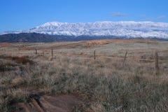 103 le long de la neige de san d'intervalle de gorgonio Photos libres de droits