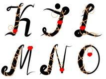 1032 ha decorato l'alfabeto Immagini Stock Libere da Diritti
