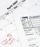 1040个日历表单 免版税库存图片