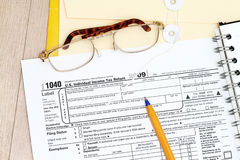 1040年归档的表单税务 库存图片