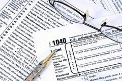 1040联邦税务局 免版税库存图片
