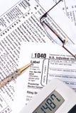 1040联邦税务局 免版税库存照片
