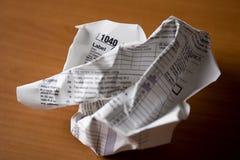 1040表单联邦税务局 免版税库存图片