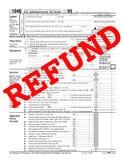 1040退款 免版税库存图片