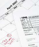 1040 kalendarzy formularza Obraz Royalty Free