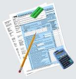 1040 moduli di dichiarazione dei redditi Fotografia Stock Libera da Diritti
