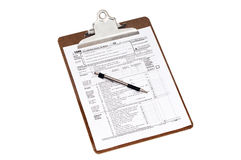 1040 skatt u för inkomst s för 2012 datalista Arkivfoto