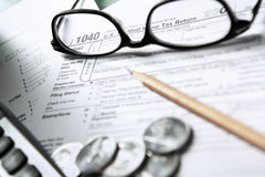 1040 Steuerformular Lizenzfreie Stockbilder