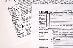 1040 Steuerformular (USA) Lizenzfreies Stockbild