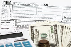 1040 tax form Stock Photography