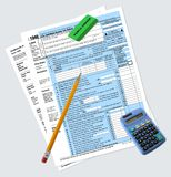 1040 Tax Return Forms Royalty Free Stock Photography