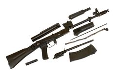 105 ak枪卡拉什尼科夫设备 库存图片