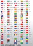 105 bandeiras de país Foto de Stock Royalty Free