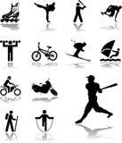 105 ikon ustawiający sport Obraz Stock