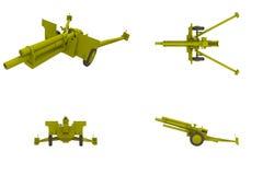 105 MM Howitzer Artillery Field Gun Stock Image